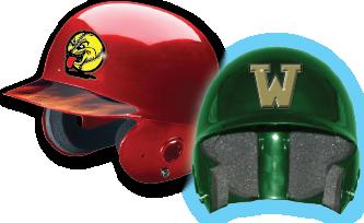 Baseball Helmet Decals