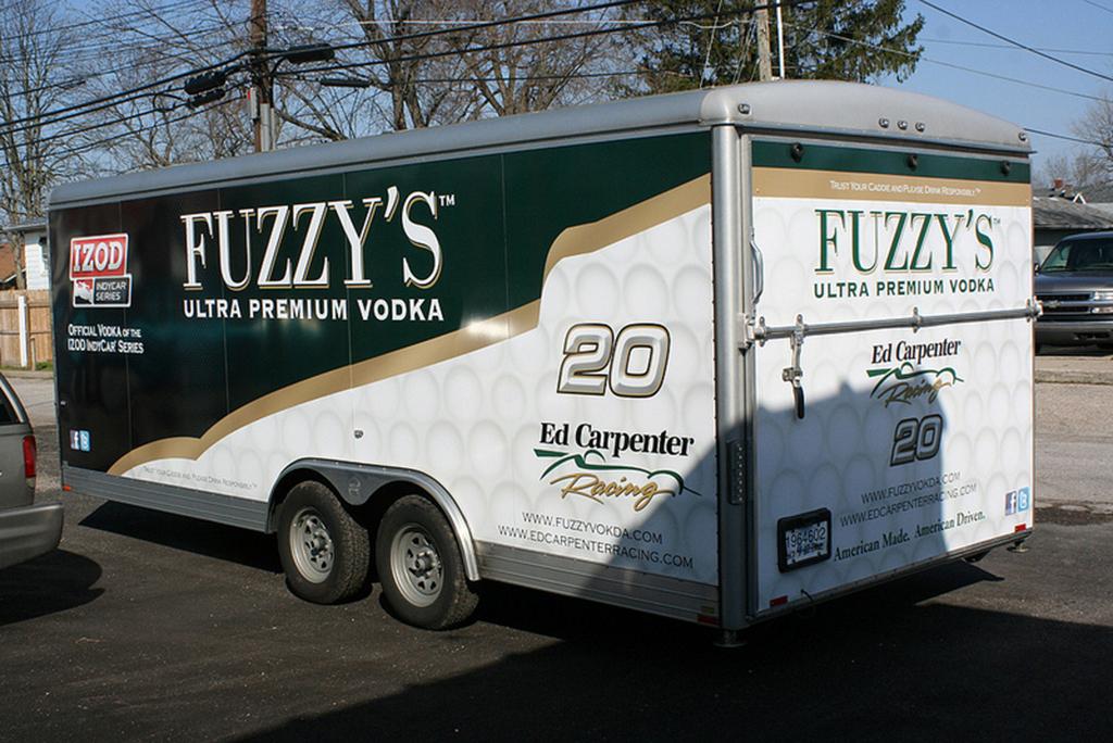 Fuzzy's Vodka Trailer Vehicle Wraps