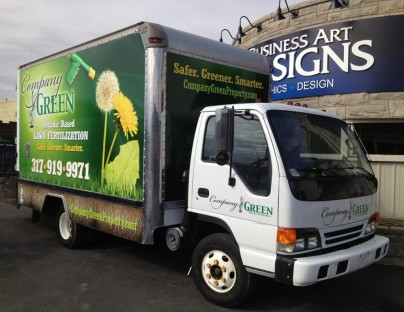 Company Green Vehicle Wraps