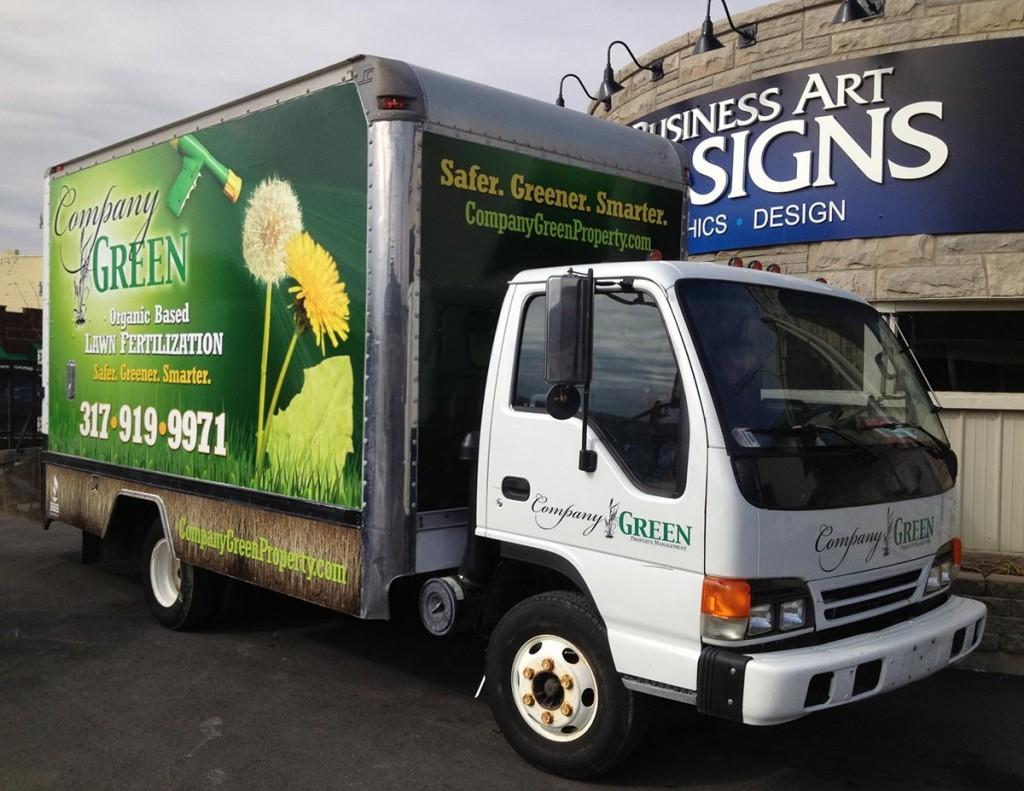 Company Green Vehicle Wraps