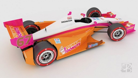 Dunkin' Donuts Livery Design