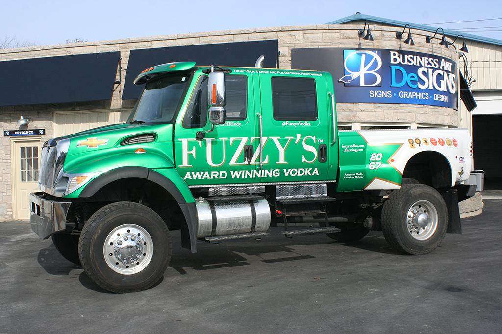 Fuzzy's Vodka Truck Vehicle Wraps