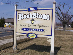Blackstone Apartments Custom Signs