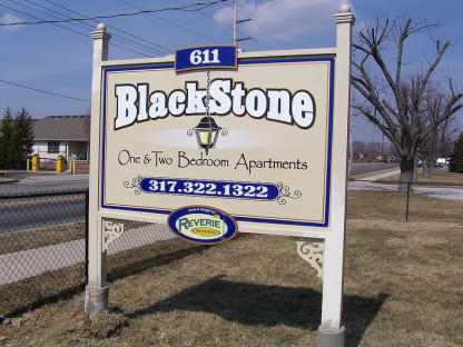 Blackstone Apartments Custom Signs