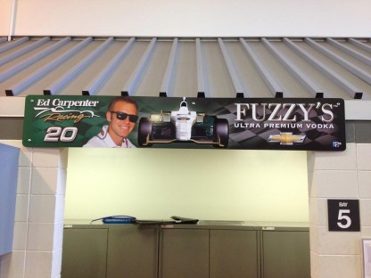Fuzzy's Pit Area Custom Sign