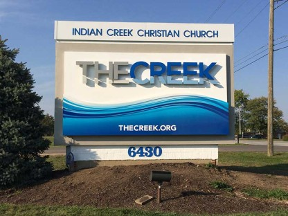 Indian Creek Christian Church Custom Signs