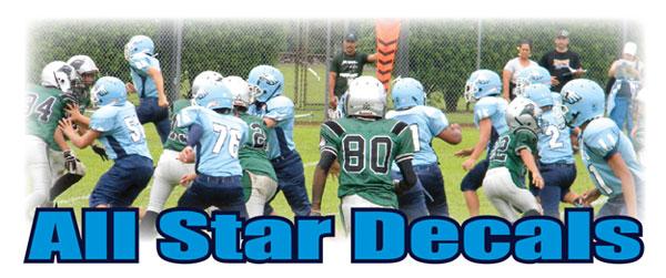 ALL STAR Football Helmet Decals Business Art DeSigns - Helmet decalsfootball helmet decals business art designs