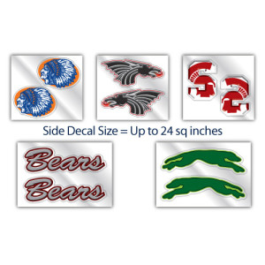 Hockey Helmet Decals - Sides Only