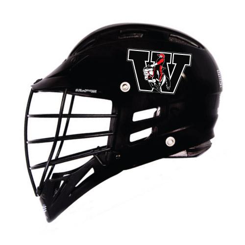 Lacrosse Helmet Decals Sides Only Business Art DeSigns - Helmet decalsfootball helmet decals business art designs