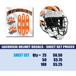 Lacrosse Helmet Decals Sheet Set-1