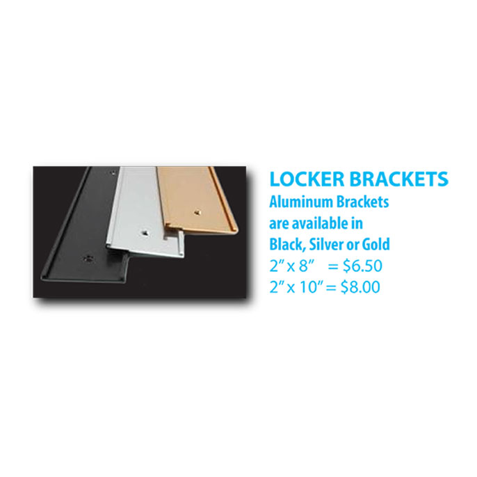 Locker Sign Brackets