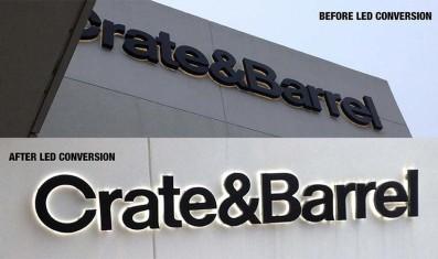Crate & Barrel LED Conversion