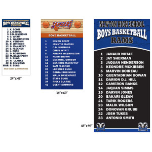Roster Board Signs - Sizes