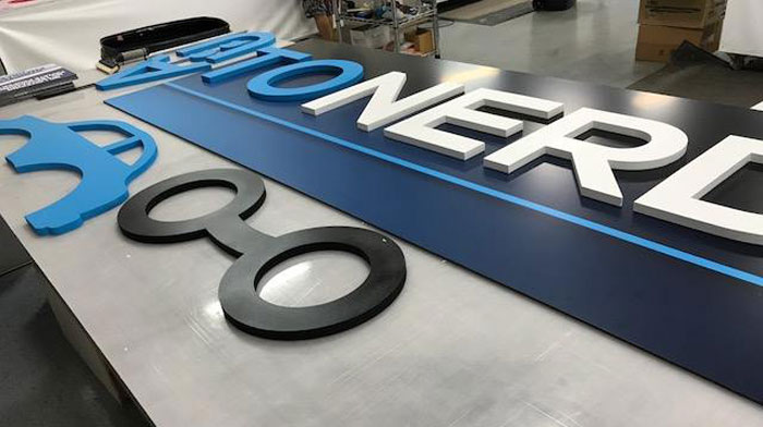 Auto Nerd Sign fabricated