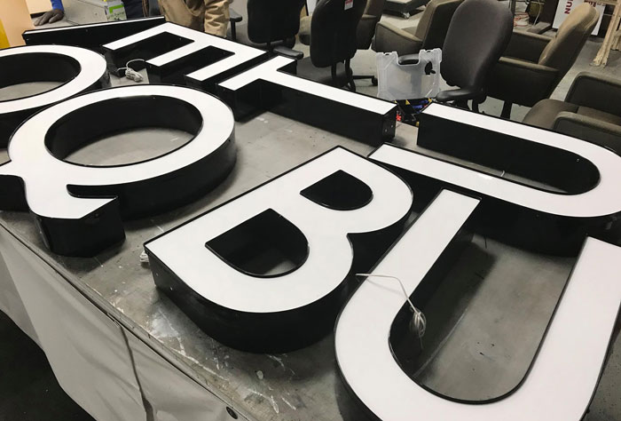 Brick and Belle Boutique Sign letters