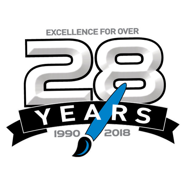 Over 28 Year Logo