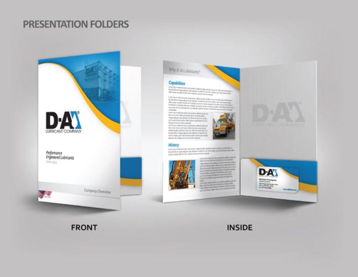 Presentation Folders design