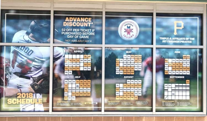 Indianapolis Indians Window Wrap