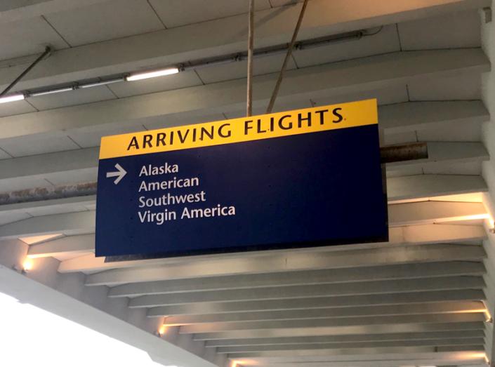 Indianapolis International Airport Sign