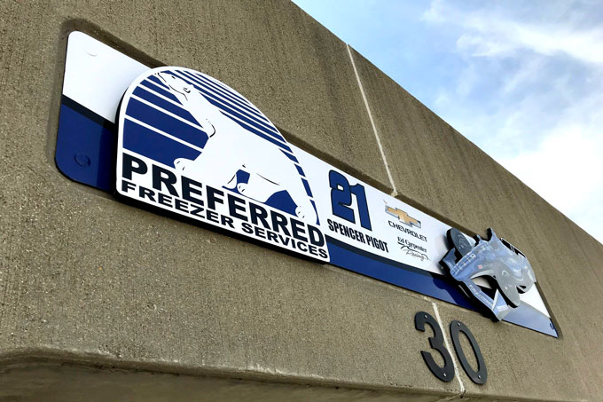 Preferred Freezer Services garage exterior Sign
