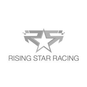 Rising Star Racing logo black and white