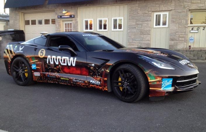 Arrow Corvette wrap applied