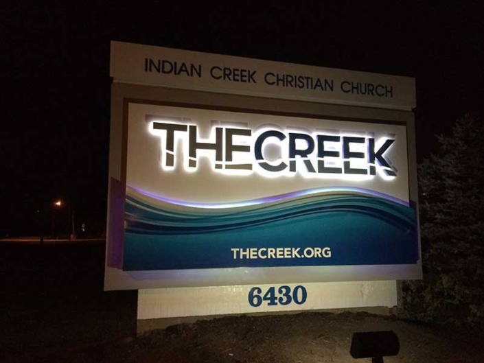Indian Creek Christian Church Outdoor Sign