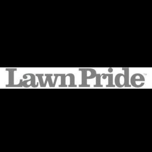 Lawn Pride logo black and white
