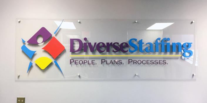 Diverse Staffing Interior Sign