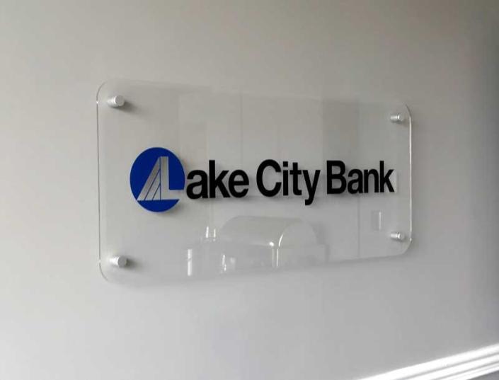 Lake City bank Interior Sign