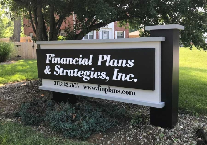 Financial Plans & Strategies Exterior Sign