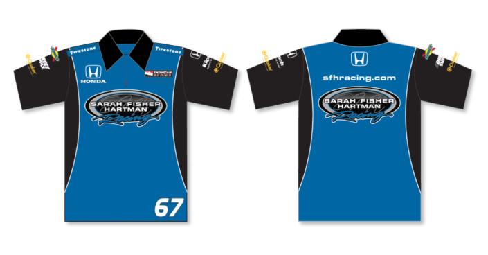 Sarah Fisher Hartman Crew Shirts