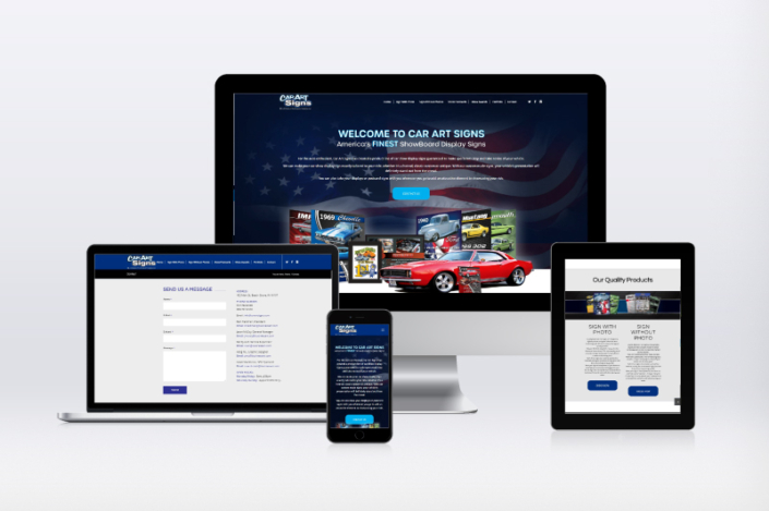 Car Art Signs Website design