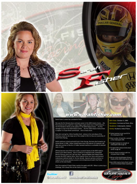 Sarah Fisher Hero Card