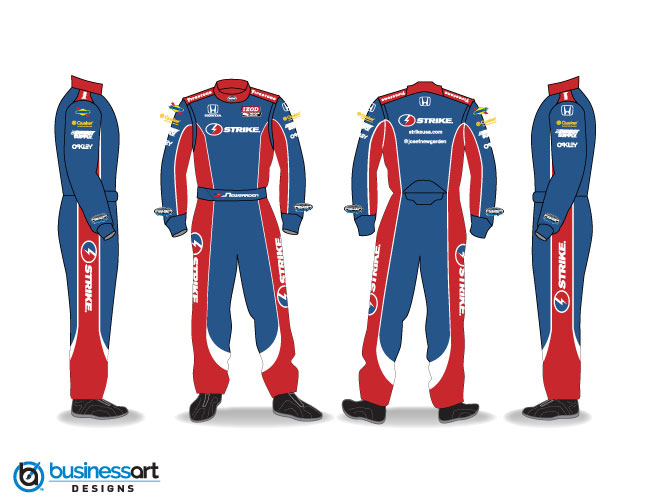 Sarah Fisher Hartman Racing Strike Fire Suit Design