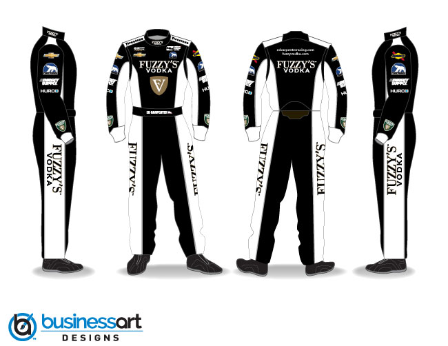 Ed Carpenter Racing black fire suits 2018