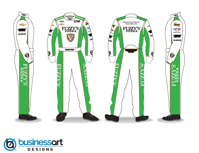 Ed Carpenter Racing Green Fire suits 2018
