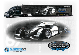 Sarah Fisher Hartman Racing Transporter