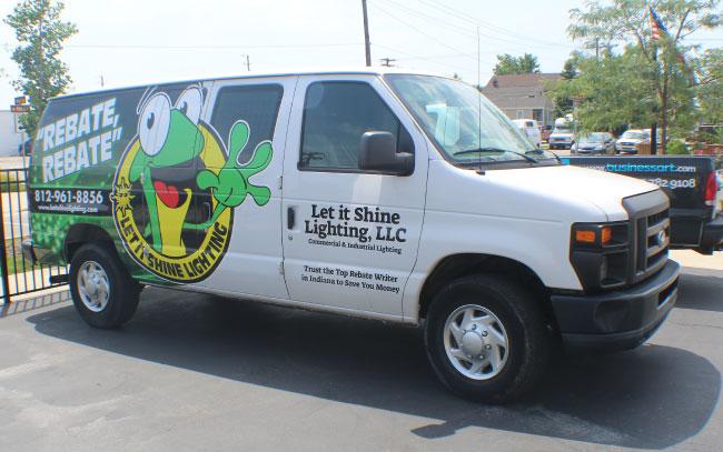 Let It Shine van wrap